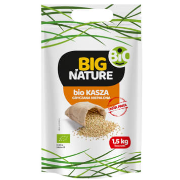 BIG NATURE Buckwheat groats not roasted BIO 400 g
