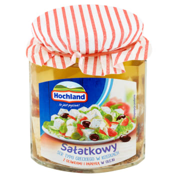 HOCHLAND Greek type salad in cubes with olives and peppers 300g