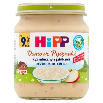 Hipp - Ryż mleczny z jabłkami po 9. miesiącu. Smaczny posiłek owocowy na mleku dla dzieci.