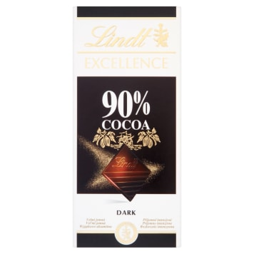 LINDT EXCELLENCE 90% Cacao Chocolate 100g