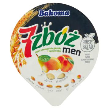 Jogurt brzoskwiniowo-gruszkowy – Bakoma MEN. Polecany szczególnie mężczyznom.