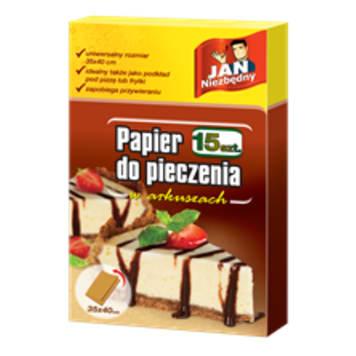 JAN NIEZBĘDNY Papier do wypieków w ark składany 15 szt. 1szt