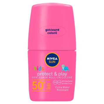 NIVEA SUN Kids Różowy koloryzujący balsam ochronny na słońce w kulce SPF 50+ 50ml