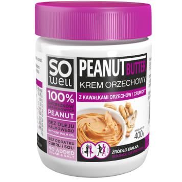 SO WELL Nut cream with pieces of nuts 400g