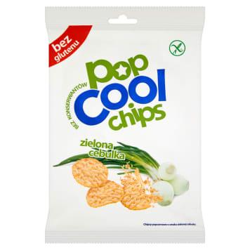 Sonko - Chipsy popcornowe Pop Cool zielona cebula. Prażona kukurydza o smaku cebuli i sera.