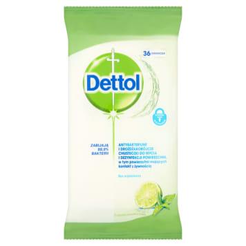 DETTOL Antybakteryjne chusteczki do mycia pow. limonka z miętą 36 sztuk 1szt