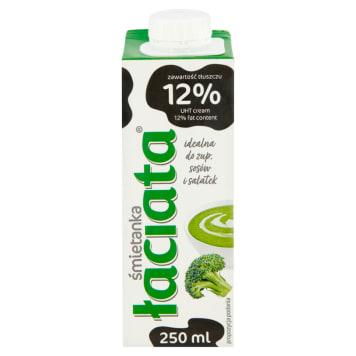 Śmietanka UHT 12% 250 ml – Łaciata. Pyszny dodatek do kawy i herbaty.
