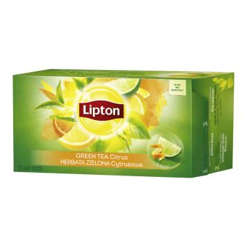 LIPTON Green tea flavored Citrus 40 bags 52g