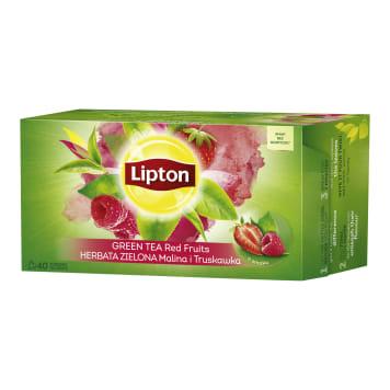 LIPTON Green tea flavored Raspberry and Strawberry 40 bags 52g