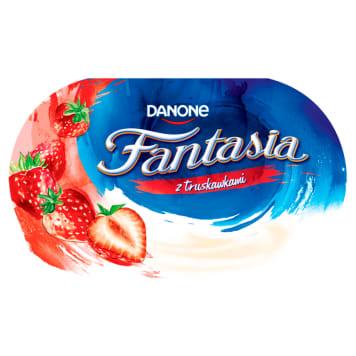 Jogurt kremowy truskawkowy Fantasia Danone to wyrafinowane połączenie owoców i aksamitnego jogurtu.