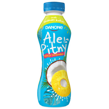 DANONE ale Pitny! Yoghurt drink - pineapple and coconut (bottle) 290g