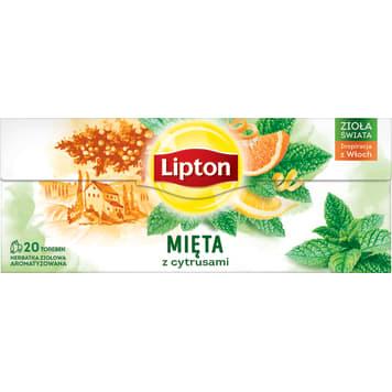 LIPTON Herbata ziołowa Cytryna&Mięta 20 torebek 240g