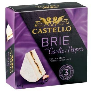 ARLA Castello Ser Brie z czosnkiem i pieprzem 125g