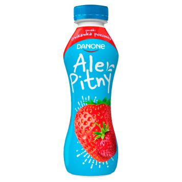Danone jogrt pitny posiada smak truskawkowy i poziomkowy. Wyprodukowano go z polskiego mleka.
