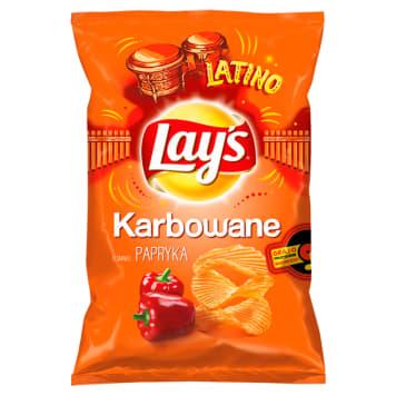 Karbowane chipsy paprykowe-Lays to pyszna i chrupiąca przekąska na imprezę.