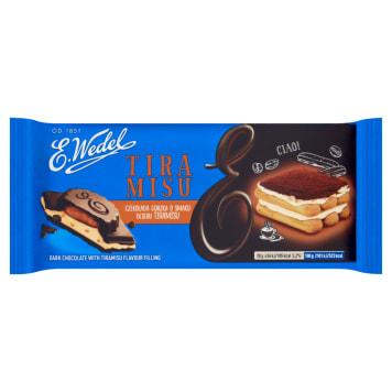 Wedel - czekolada gorzka o smaku tiramisu. Słodka przekąska o przepysznym smaku.