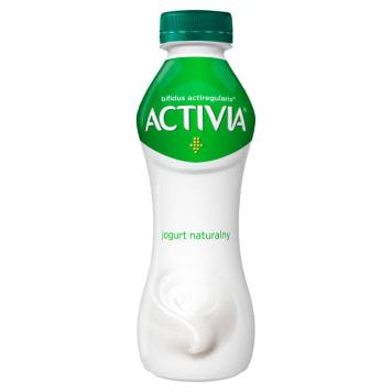 Danone Activia – naturalny jogurt do picia, 300 g. Zawiera szczep bakterii Acti Regularis.