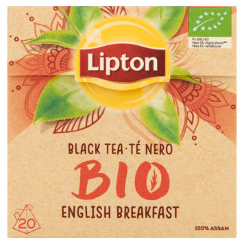 LIPTON English Breakfast Herbata czarna BIO 20 piramidek 36 g