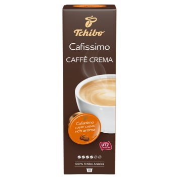TCHIBO Cafissimo Kawa mielona w kapsułkach Caffe Crema Rich Aroma 10 kapsułek 76g