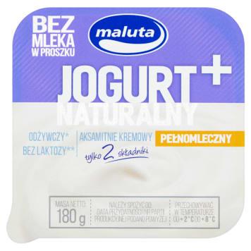 MALUTA Jogurt naturalny pełnomleczny bez laktozy 180g