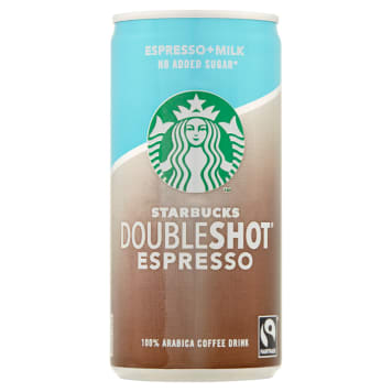 STARBUCKS Doubleshot Espresso Mleczny napój kawowy bez dodatku cukru 200ml
