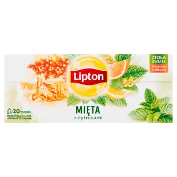 LIPTON Herbata ziołowa Cytryna&Mięta 20 torebek 26g