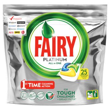 FAIRY PLATINIUM All in One Kapsułki do zmywarki cytrynowe 25 szt 1szt