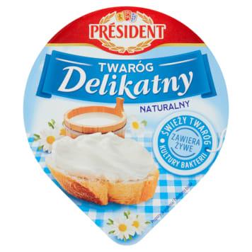 Delikatny twaróg śmietankowy - President. Delikatny smak, doskonały na każdą okazję!