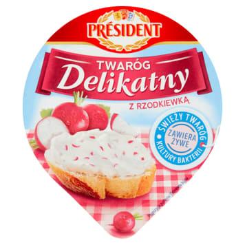 Twaróg z rzodkiewką - President. Doskonałe walory smakowe, które przypadną każdemu do gustu.