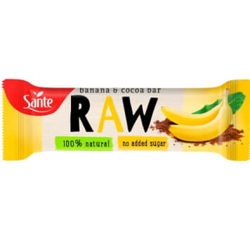 SANTE Baton RAW Bananowo - Kakaowy 35g