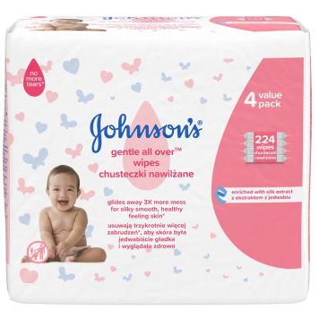 JOHNSONS® BABY Chusteczki delikatnie oczyszczające 4x56szt 1szt