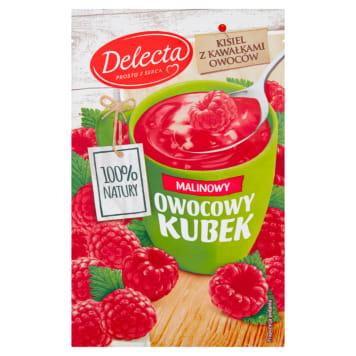 DELECTA kisiel Owocowy Kubek malina 30g. Przepyszny i bardzo łatwy do przygotowania deser.