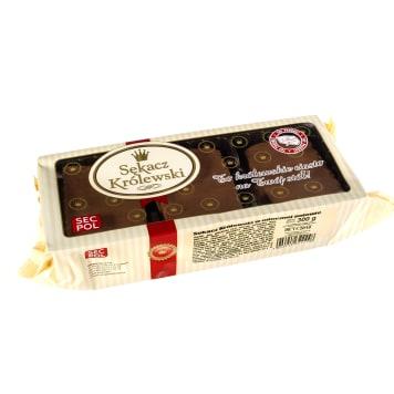 SECPOL Ciasto Sękacz Królewski w czekoladowej polewie (tacka) 300g