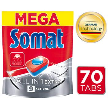 SOMAT All in 1 EXTRA Tabletki do zmywarki 70 szt. 1.274kg