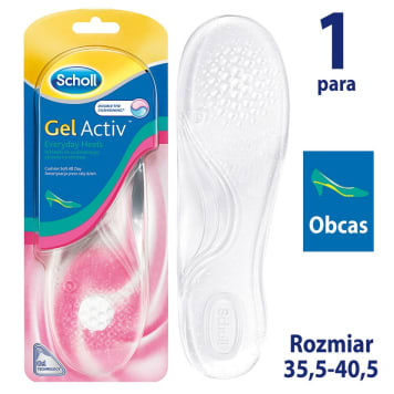 SCHOLL GelActiv Wkładki do codziennego obuwia na obcasie rozmiar 35-40,5 1szt