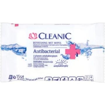 Chusteczki z płynem antybakteryjnym - Cleanic to zabójca dla bakterii.