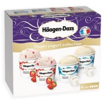 HAAGEN-DAZS Lody Frozen yogurt collection 4x100 ml 1szt
