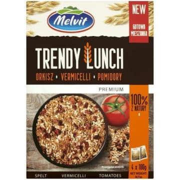 TRENDY LUNCH Orkisz, vermicelli, pomidory 4 x 100g 400g