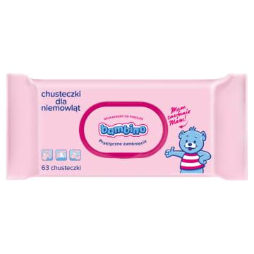 BAMBINO Chusteczki dla niemowląt z plastikowym zamknięciem 63 szt. 1szt