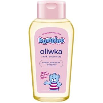 Bambino – Oliwka z witaminą F to delikatny środek nawilżający dla niemowląt i małych dzieci.