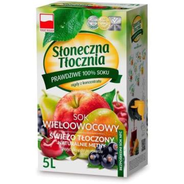 Sok wieloowocowy - Słoneczna tłocznia. Naturalny sok tłoczony na zimno ze świeżych owoców.