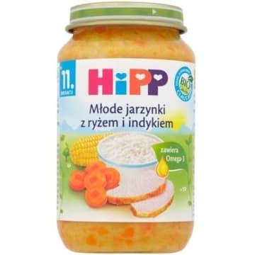Jarzynki z indykiem BIO po 11 miesiącu - HIPP to bezpieczne dla małych alergików danie.