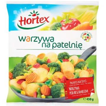 Warzywa na patelnię - Hortex. Mieszanka doskonałej jakości mrożonych warzyw.