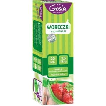 Gosia - Woreczki z suwakiem 20 sztuk. Gwarancja świeżości przechowywanej żywności.