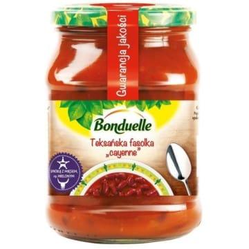 Bonduelle - teksańska fasola cayenne, 580 ml. Świetnie smakuje ze smażonym mięsem.