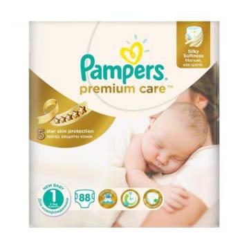 Pieluchy jednorazowe Rozmiar 1 - Pampers Premium Care to znakomita ochrona skóry dziecka.