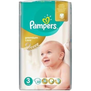 Jednorazowe pieluchy rozmiar 3 - Pampers. Pieluszki gwarantują maksymalną ochronę skóry malucha.