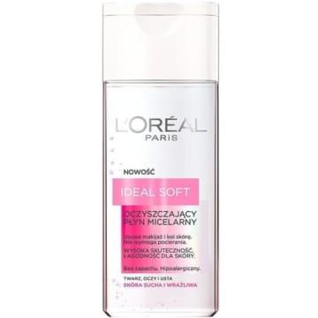 Oczyszczający płyn micelarny 200ml - Loreal Ideal Soft. Idealny do codziennej pielęgnacji.