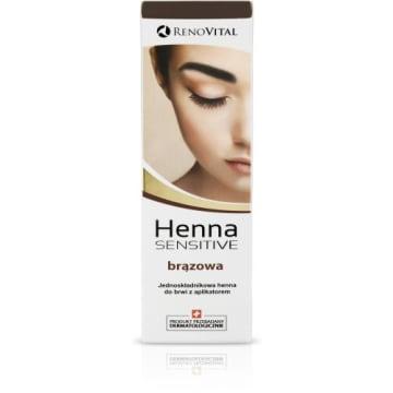 RENOVITAL Henna w kremie jednoskładnikowa brązowa 6g