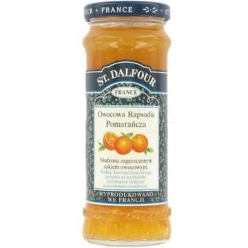Konfitura pomarańczowa – St. Dalfour. Kawałki pomarańczy nadają jej wyrazistości podczas spożywania.
